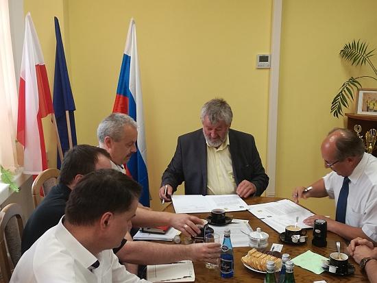 Wizyta delegacji zRosji.