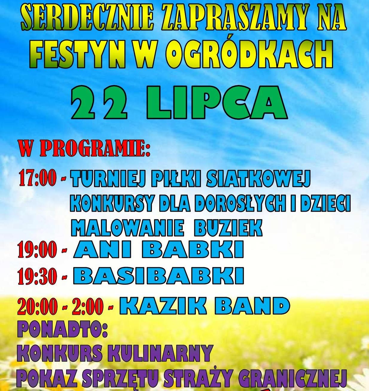 Zaproszenie na Festyn wOgródkach