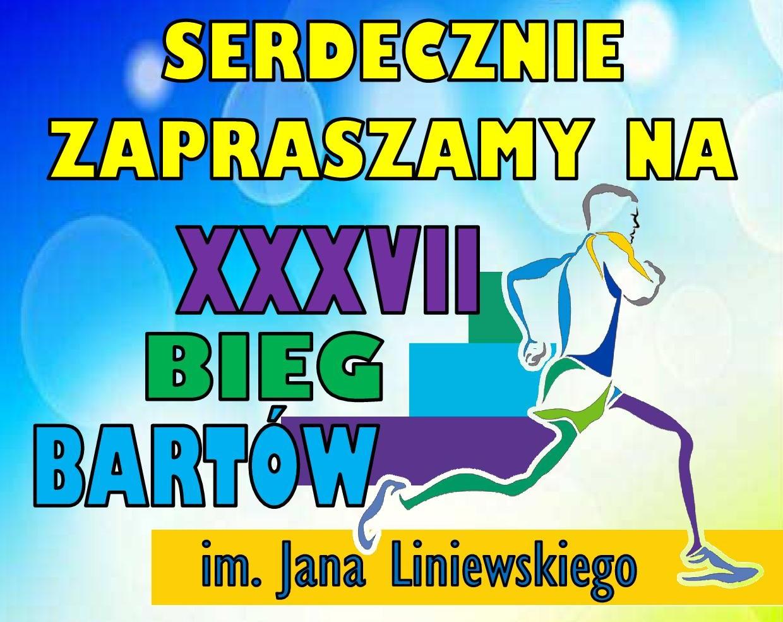 Zaproszenie na XXXVII Bieg Bartów im. Jana Liniewskiego